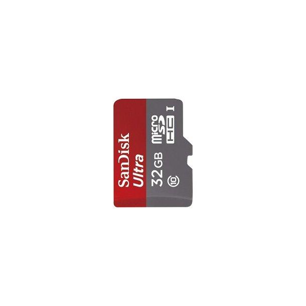 32 GB Micro SD Kort (C10) - SanDisk Ultra (533x / 80 MB/s)