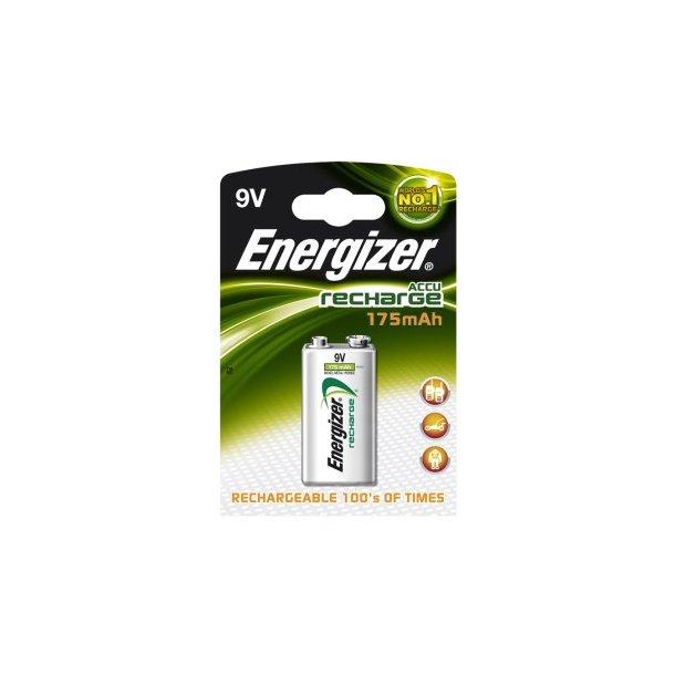 ENERGIZER 175 mAh 9V Genopladelig 1-pak