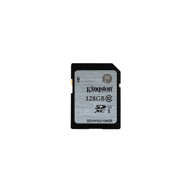 128 GB SD Kort (C10) - Kingston (300x / 45 MB/s)