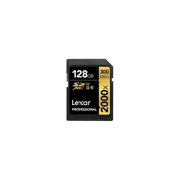 128 GB SD Kort (C10) - Lexar (2000x / 300 MB/s)