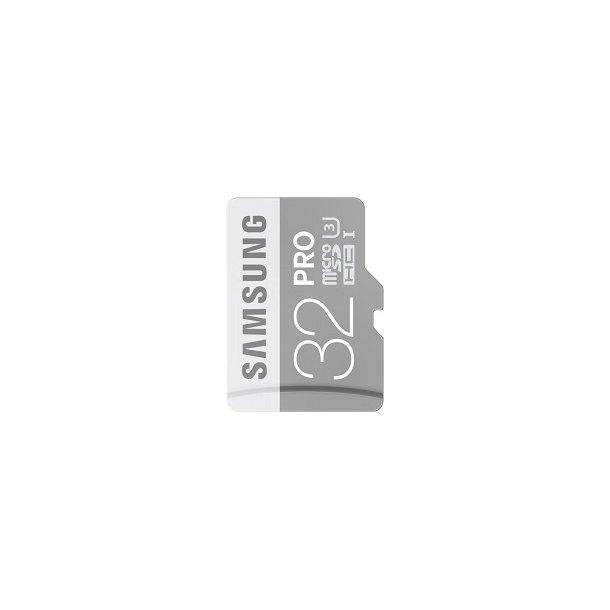 32 GB Micro SD Kort (C10) - Samsung Pro (600x / 90 MB/s)