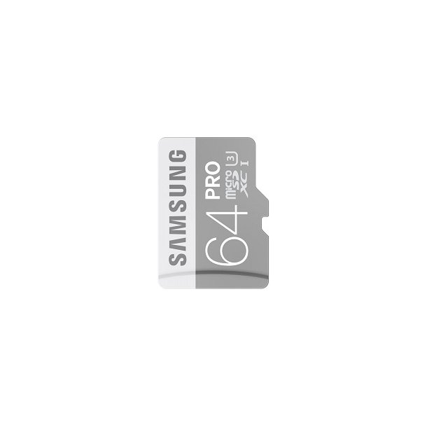 64 GB Micro SD Kort (C10) - Samsung Pro (600x / 90 MB/s)