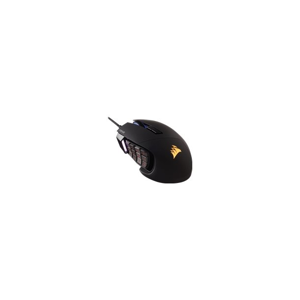 CORSAIR Scimitar Optical Gaming Mouse Black up to 12000dpi Key slider mechanical buttons 4 zone RGB