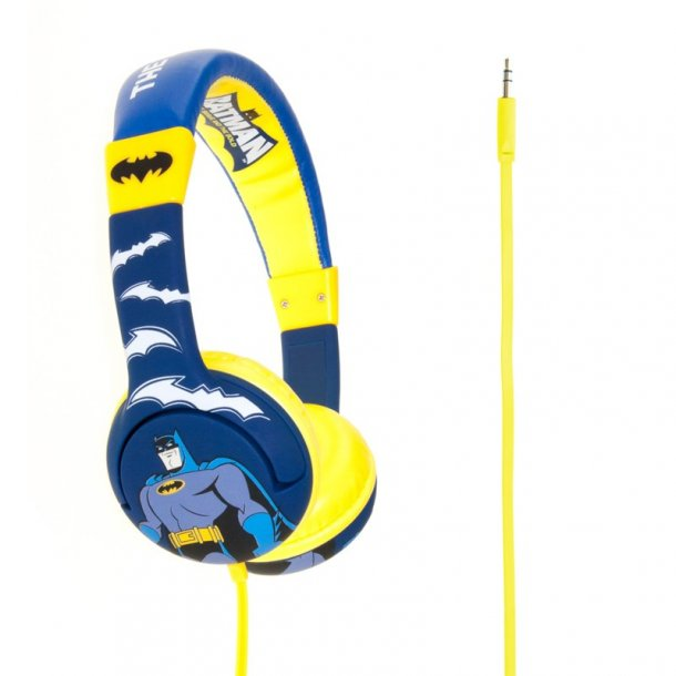 KITSOUND - Batman Hovedtelefon On-Ear Junior Blå Gul