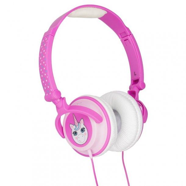 KITSOUND DOODLE Hovedtelefon On-Ear Enhjørning 85dB Rosa
