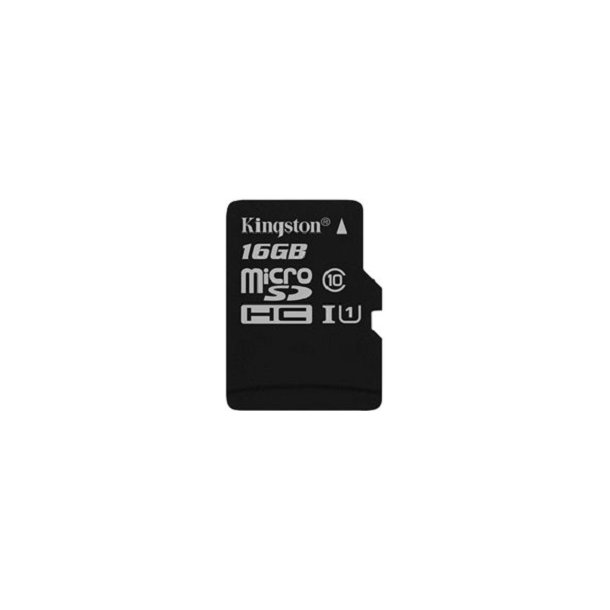 16 GB Micro SD Kort (C10) - Kingston (300x / 45 MB/s)