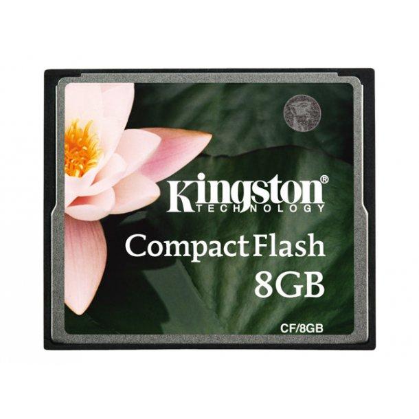 8 GB Compact Flash Kort - Kingston