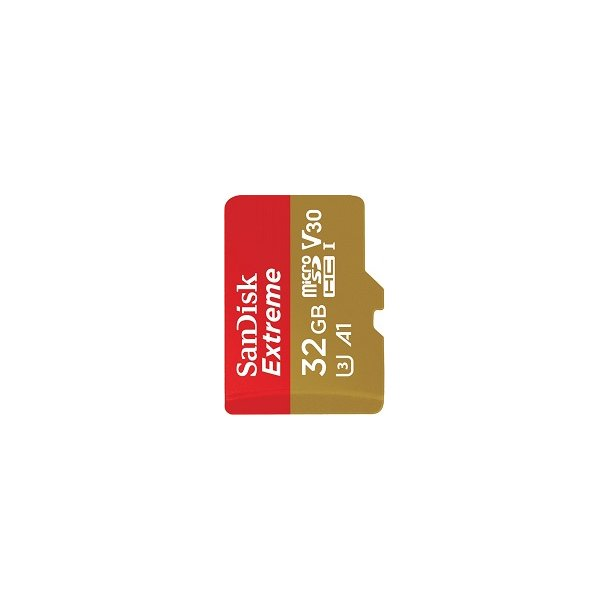 32 GB Micro SD Kort (C10) - SanDisk Extreme (667x / 100 MB/s)