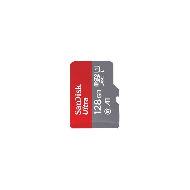 128 GB Micro SD Kort (C10) - SanDisk Ultra (667x / 100 MB/s)