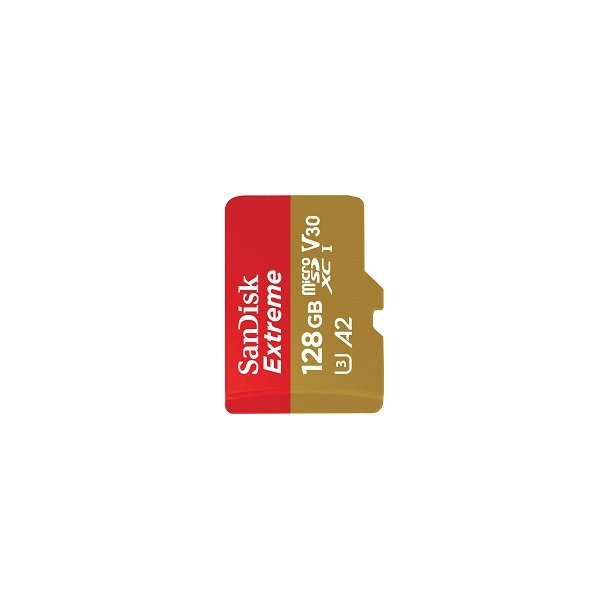 128 GB Micro SD Kort (C10) - SanDisk Extreme (1066x / 160 MB/s)