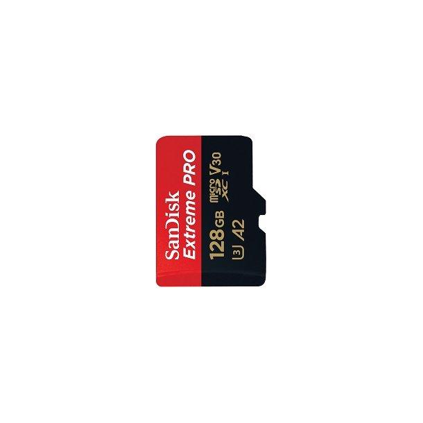 128 GB Micro SD Kort (C10) - SanDisk Extreme Pro (1133x / 170 MB/s)