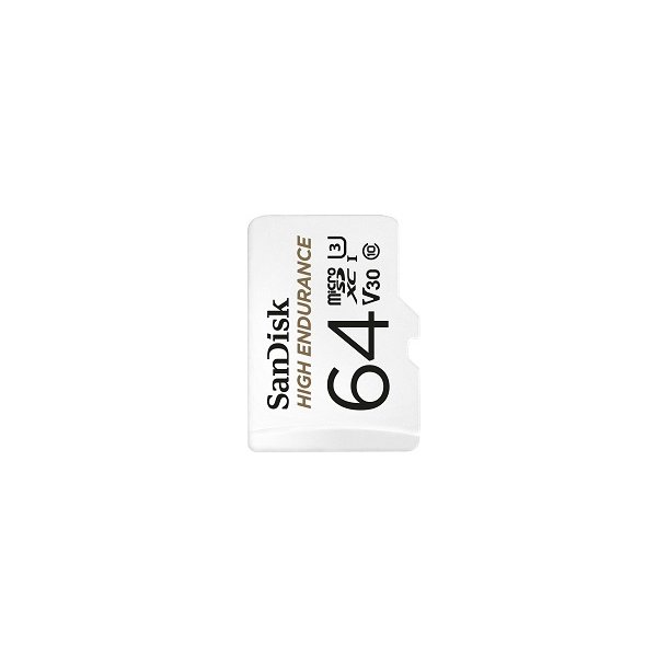64 GB Micro SD Kort (C10) - SanDisk High Endurance (667x / 100 MB/s)