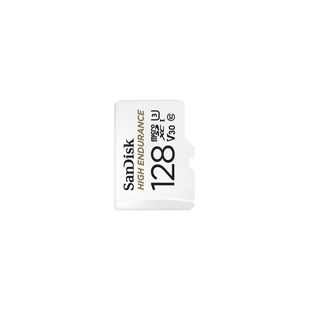 128 GB Micro SD Kort (C10) - SanDisk High Endurance (667x / 100 MB/s)