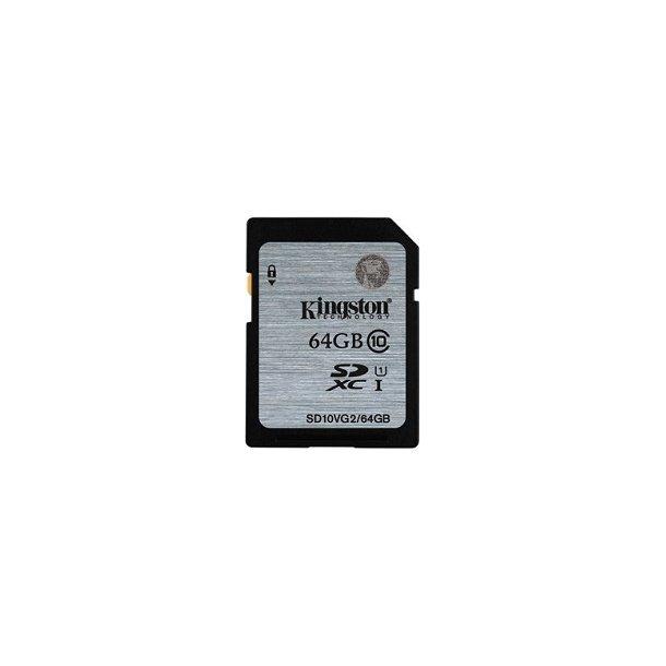 64 GB SD Kort (C10) - Kingston (300x / 45 MB/s)