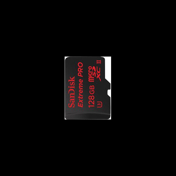 128 GB Micro SD Kort (C10) - SanDisk Extreme Pro (1833x / 275 MB/s)