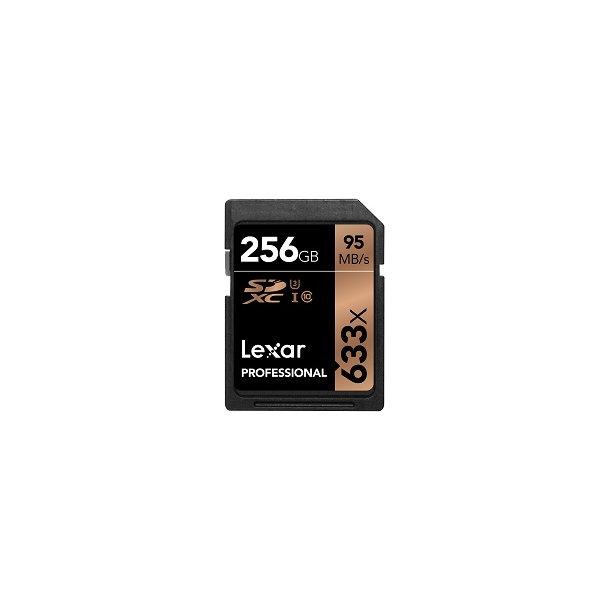 256 GB SD Kort (C10) - Lexar (633x / 95 MB/s)