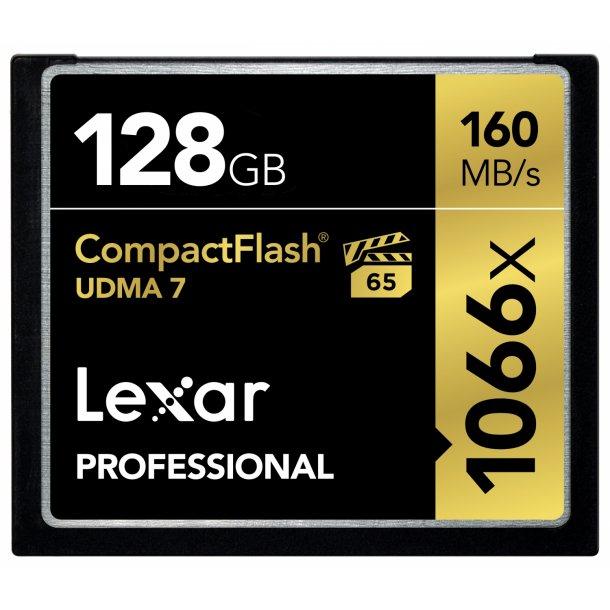 128 GB Compact Flash Kort - Lexar Professional (1066x / 160 MB/s)