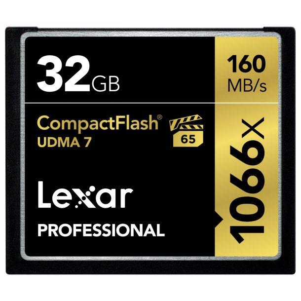 32 GB Compact Flash Kort - Lexar Professional (1066x / 160 MB/s)
