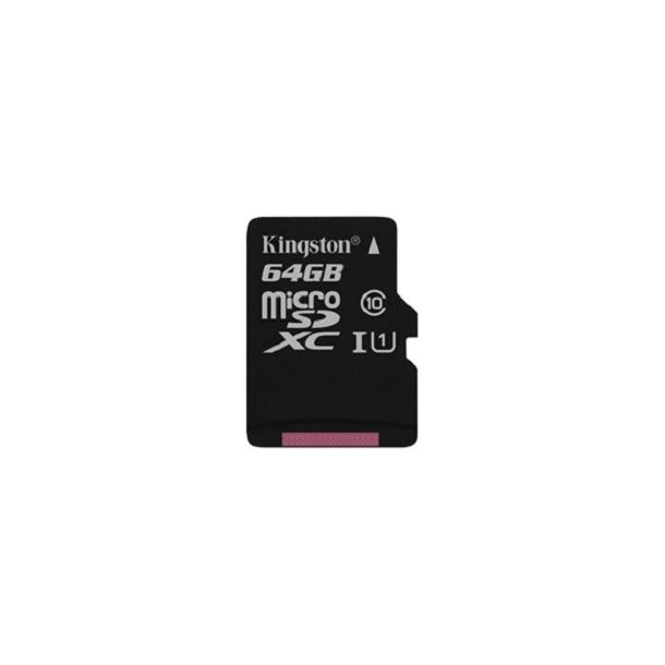 64 GB Micro SD Kort (C10) - Kingston (300x / 45 MB/s)