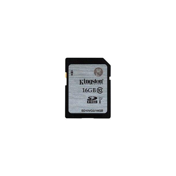 16 GB SD Kort (C10) - Kingston (300x / 45 MB/s)