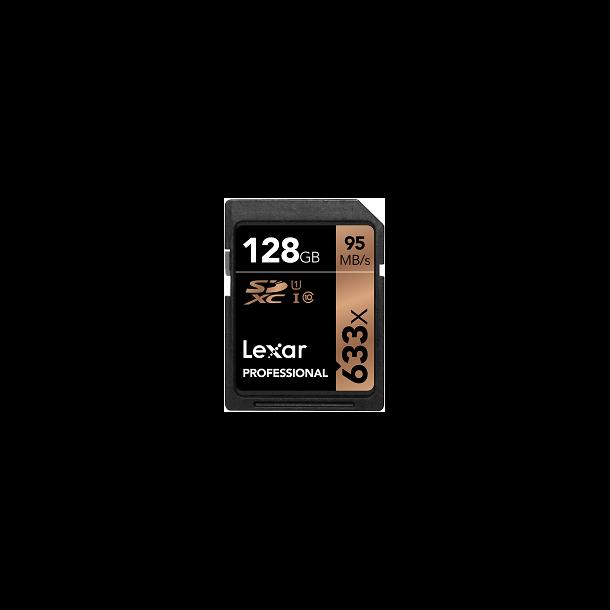 128 GB SD Kort (C10) - Lexar (633x / 95 MB/s)