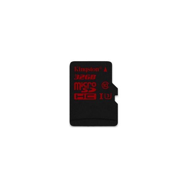 32 GB Micro SD Kort (C10) - Kingston Pro (600x / 90 MB/s)