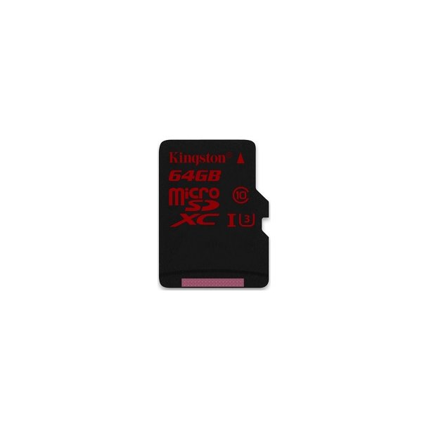 64 GB Micro SD Kort (C10) - Kingston Pro (600x / 90 MB/s)